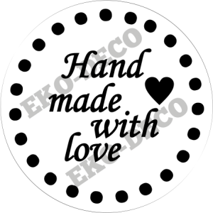 Stempel hand made with love - STE187