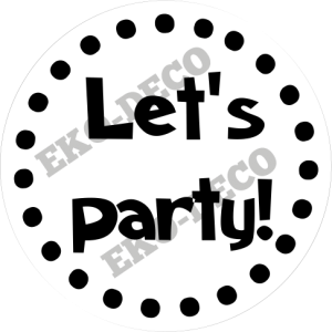 STE186 Stempel Let's party