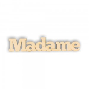 ND168 Napis Madame