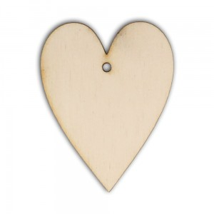 D037 Heart made from plywood