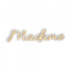 ND135 Napis Madame