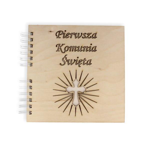c9abed1cfb BZ59 Baza kwadratowa 20x20cm z wyciętą okładką KOMUNIA ŚWIĘTA krzyż